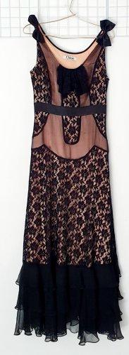 Chloé Robe longue noir-rosé nylon