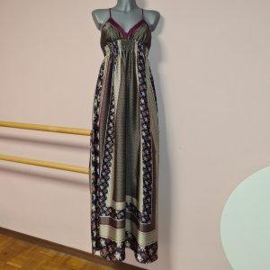Kleid Maxikleid von MNG Mango XS 34 lang Satin superschön