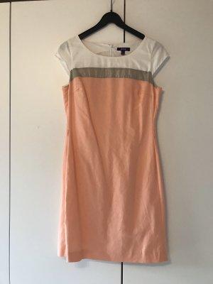 Kleid, MEXX, Gr. 38, orange, silber, weiß