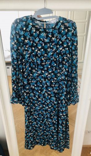Kleid midi-Länge & Blumen-All-over-Print