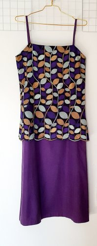 Comme des Garçons Midi Dress multicolored silk