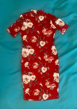Vintage Midi Dress red-cream