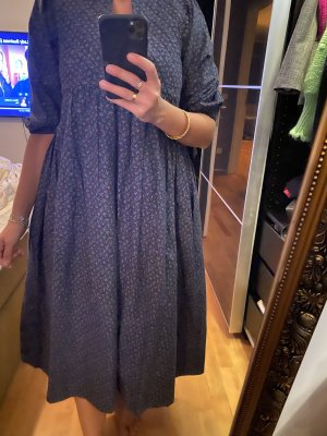 Babydoll-jurk rood-donkerblauw