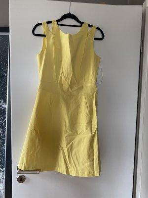 Kleid Midikleid L 40 gelb