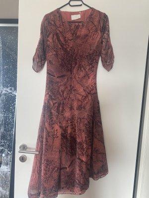 Kleid Midikleid schwarz Rot M 38