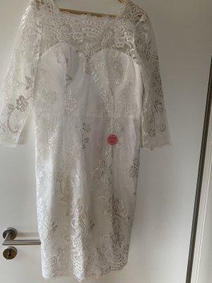 Kleid Midikleid weiß 44 XXL Brautkleid