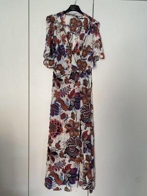 Kleid Midikleid Zara weis blumen Größe 36 small wie neu