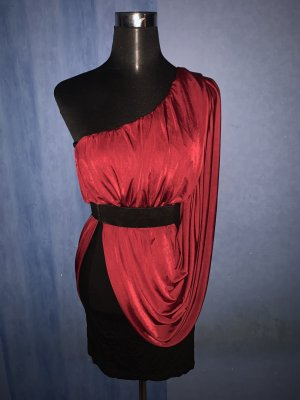 Rare london Sukienka z dekoltem typu bandeau Wielokolorowy