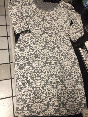 Amisu Mini vestido gris-blanco puro