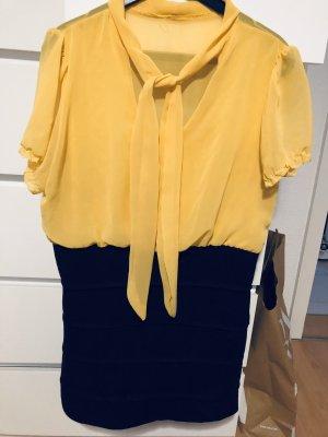 Kleid mini in gelb/schwarz