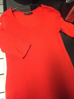 Kleid - mini - in Orangerot- Gr 38 - 3/4 Ärmeln