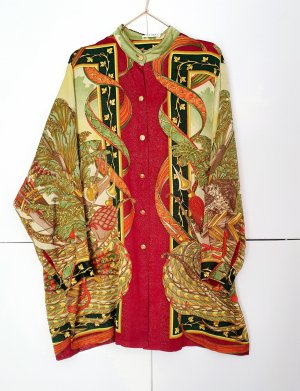 Kleid mini Seide Hemdkleid von elegance true vintage gr. 42 Seide