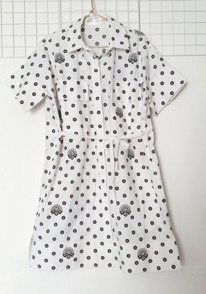 Victoria Beckham Robe courte blanc-noir coton