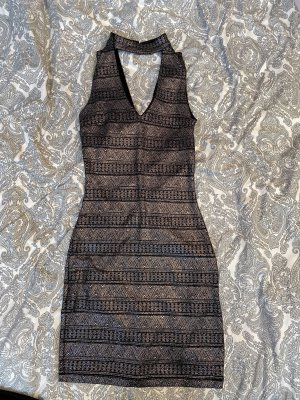 Koton Mini Dress black-silver-colored