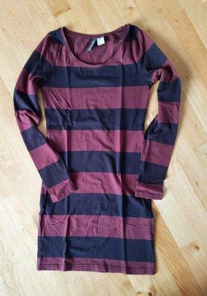 Kleid, Minikleid, Jersey Longtop Streifen Emo Punk Grunge Rock