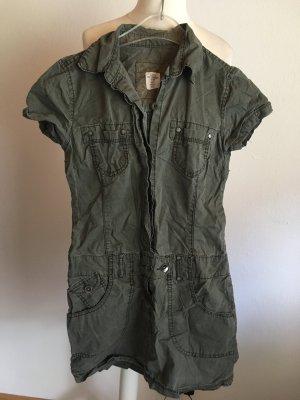 Kleid Minikleid khaki mit Kragen Gr. 36