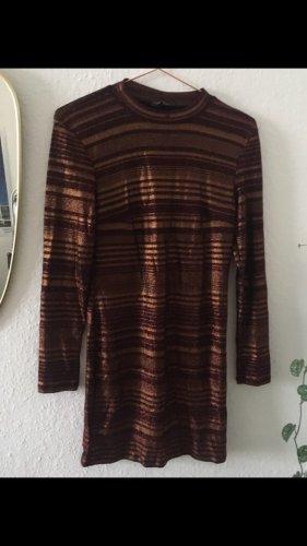 Kleid minikleid von Topshop Größe 40 weinrot Gold