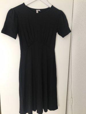 Asos Sukienka ze stretchu czarny Wiskoza