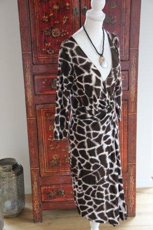 Kleid mit Animalprint von Roberto Cavalli in Größe S