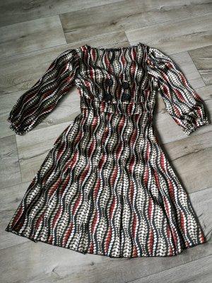 Amisu A-lijn jurk veelkleurig Polyester