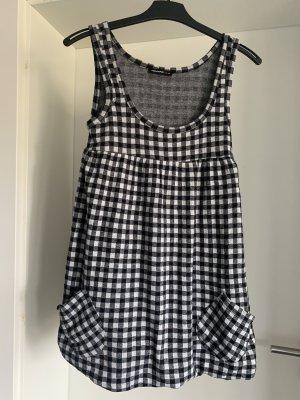 New Yorker Sukienka z rękawem balonowym biały-czarny