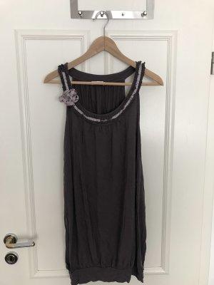 Promod Sukienka z krótkim rękawem szaro-liliowy