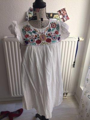SheIn Sukienka typu babydoll w kolorze białej wełny