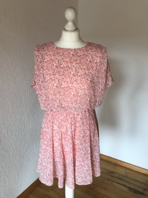 Kleid mit Blumenmuster Millefleurs Guts&Gusto Rosa S neu