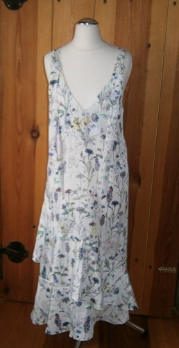 H&M Flounce Dress multicolored viscose