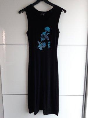 Kleid mit Blumenprint und chinesischen Zeichen