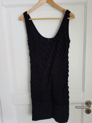 Kleid mit breitem Bündchen und Raffungen