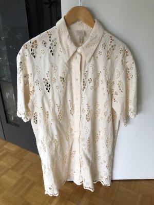 Kleid mit Broderie Anglaise H&M beige M neu!!!