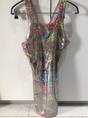 Kleid mit buntem Schlangenprint