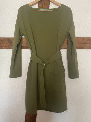 Benetton Sukienka z długim rękawem zielono-szary