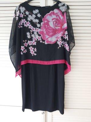Kleid mit Chiffonüberwurf