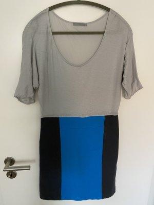 COS Stretch jurk grijs-donkerblauw