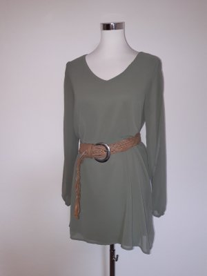Ann Christine Cut out jurk khaki