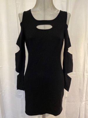 Carell Thomas Cut Out Dress black mixture fibre