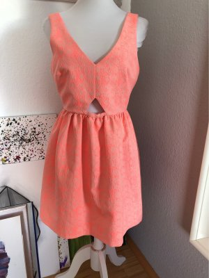 Zara Babydoll Dress neon pink