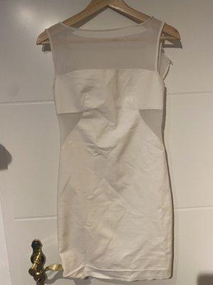 Zara Vestido cut out blanco