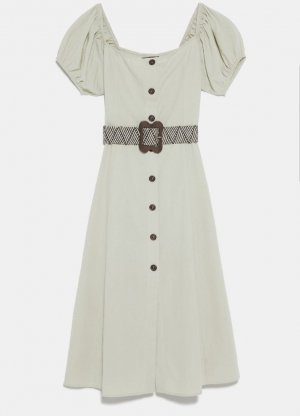 Kleid mit Flechtgürtel von Zara Gr. S