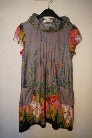 Kleid mit floralem Print, zwei kleinen Taschen, hübschem Kragen
