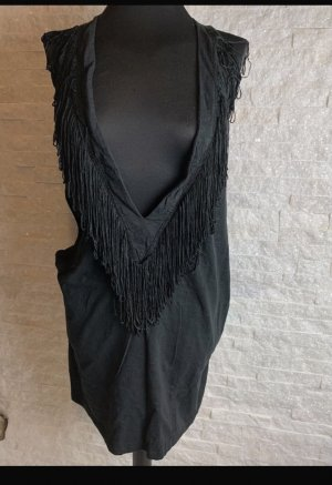 Asos Fringed Dress black