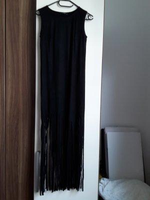Reserved Robe à franges noir