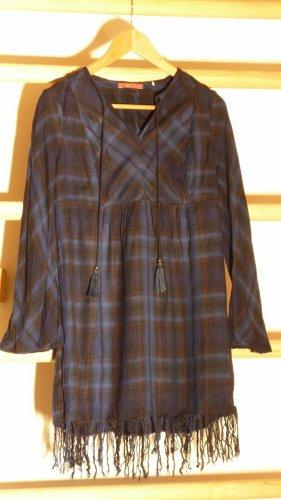 edc Sukienka z frędzlami Wielokolorowy Tkanina z mieszanych włókien