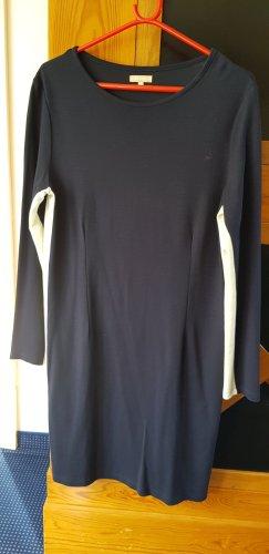 Strandfein Vestido de tela de sudadera blanco-azul oscuro