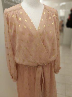 keine Kopertowa sukienka w kolorze różowego złota-złoto