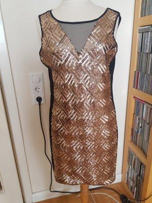 Kleid mit Goldpailletten