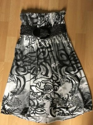 Amisu Vestido bandeau multicolor tejido mezclado