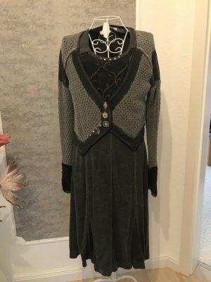 Elisa Cavaletti Gebreide jurk grijs-bruin